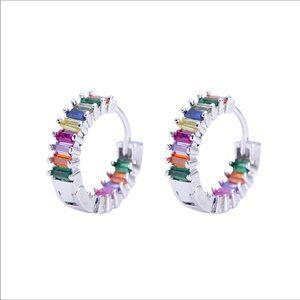 925 Crystal Rainbow Earrings